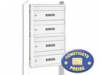 Briefkastenanlage 4 Fächer freistehend weiß Cenator BW 280