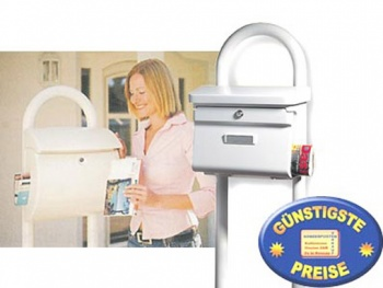Briefkastenständer weiß Cenator BW 113