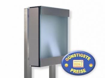 Briefkastenständer Edelstahl zum Einbetonieren Cenator KE 362