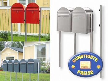 Briefkastenständer Edelstahl 1 Stück Cenator BF 452