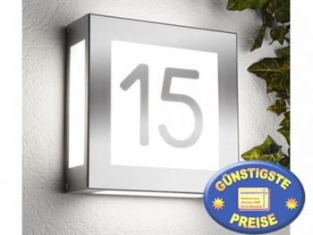 Außenleuchte Edelstahl mit Hausnummer Cenator CM 20