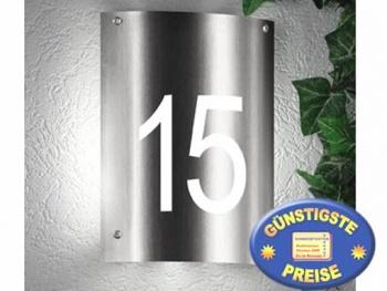 Hausnummerleuchte aus Edelstahl Cenator CM 26