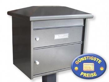 Standbriefkasten mit Paketfach alteisen Cenator BW 217
