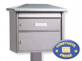 Standbriefkasten mit Paketfach silber Cenator BW 219