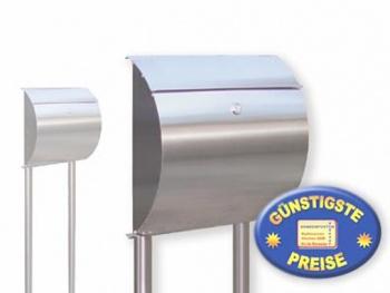 Briefkasten Edelstahl mit Standrohren Cenator KN 294