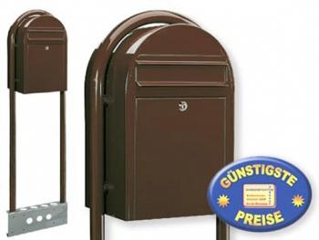 Briefkasten freistehend braun Cenator BF 459
