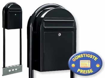 Briefkasten freistehend strukturschwarz Cenator BF 461