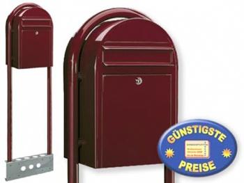 Briefkasten freistehend bordeaux Cenator BF 462