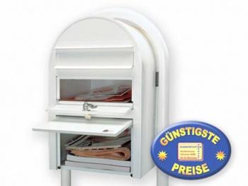 Standbriefkasten mit Paketfach weiß Cenator BF 476