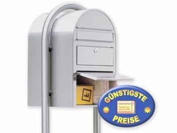Standbriefkasten mit Paketfach Edelstahl Cenator BF 478