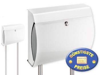 Standbriefkasten weiß Cenator BW 560