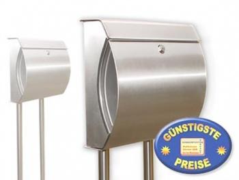 Briefkasten Edelstahl mit Ständer Cenator BW 84