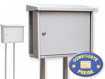 Briefkasten aus Edelstahl mit Ständer Cenator BW 88