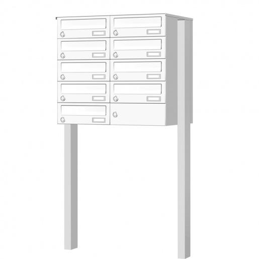 cenator briefkastenanlage freistehend 9 f cher cenator kn fs 90 244 h. Black Bedroom Furniture Sets. Home Design Ideas