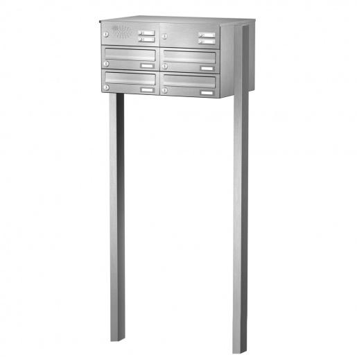 cenator briefkastenanlage freistehend edelstahl 4 f cher mit funktionskasten cenator kn fs 41. Black Bedroom Furniture Sets. Home Design Ideas