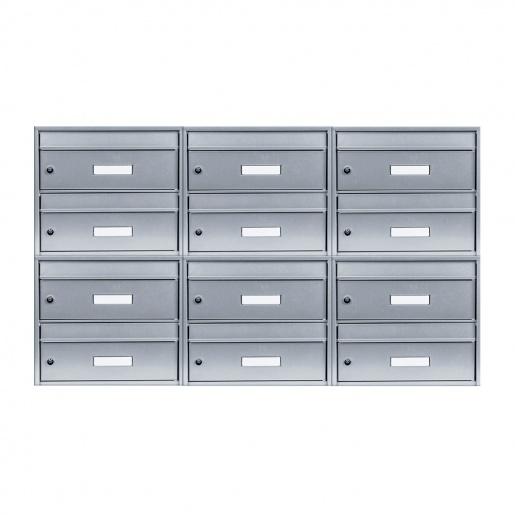12-Fach Briefkastenanlage Twin silber von Cenator