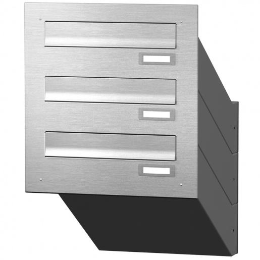 cenator mauerdurchwurf briefkastenanlage 3 f cher edelstahl cenator kn md 30 or e. Black Bedroom Furniture Sets. Home Design Ideas