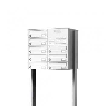 Briefkastenanlage freistehend 8 Fächer mit Funktionskasten Cenator KN-FS-81-244-H