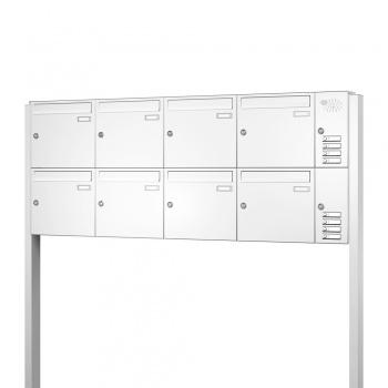 Briefkastenanlage freistehend 8 Fächer mit Funktionskasten Cenator KN-FS-81-244