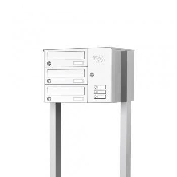 Briefkastenanlage freistehend 3 Fächer mit Funktionskasten Cenator KN-FS-31-244-H