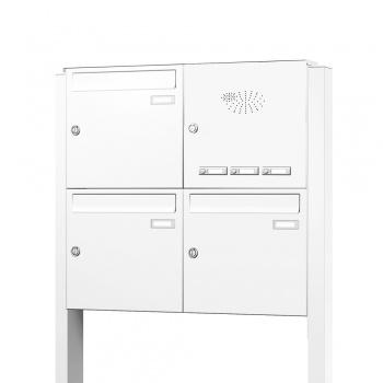 Briefkastenanlage freistehend 3 Fächer mit Funktionskasten Cenator KN-FS-31-244