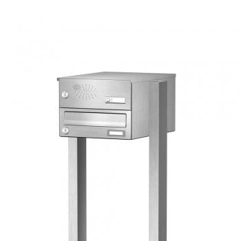 Briefkasten freistehend Edelstahl mit Funktionskasten Cenator KN-FS-11-244-H-E