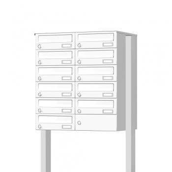 Briefkastenanlage freistehend 11 Fächer Cenator KN-FS-110-244-H