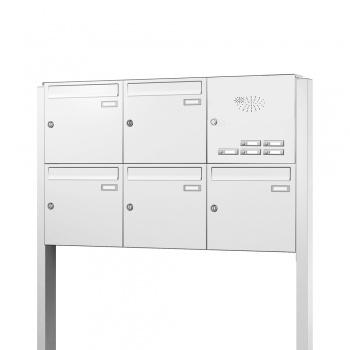 Briefkastenanlage freistehend 5 Fächer mit Funktionskasten Cenator KN-FS-51-244