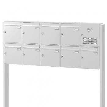 Briefkastenanlage freistehend 9 Fächer mit Funktionskasten Cenator KN-FS-91-244