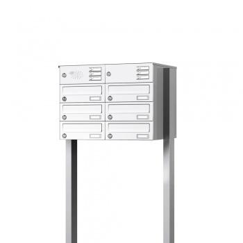 Briefkastenanlage freistehend 6 Fächer mit Funktionskasten Cenator KN-FS-61-244-H