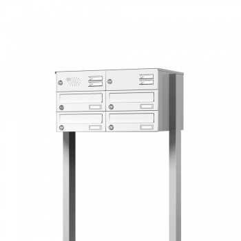 Briefkastenanlage freistehend 4 Fächer mit Funktionskasten Cenator KN-FS-41-244-H