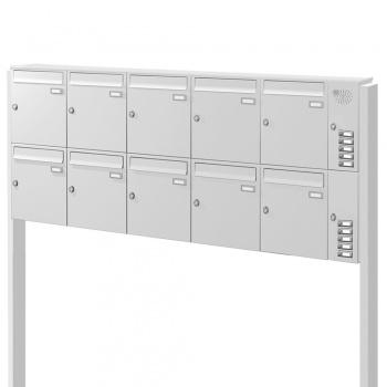 Briefkastenanlage freistehend 10 Fächer mit Funktionskasten Cenator KN-FS-101-244