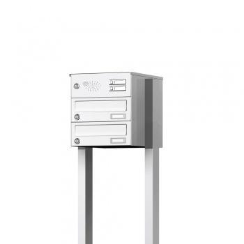 Doppelbriefkasten freistehend mit Funktionskasten Cenator KN-FS-21-244-H