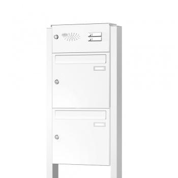 Briefkastenanlage freistehend 2 Fächer mit Funktionskasten Cenator KN-FS-21-244