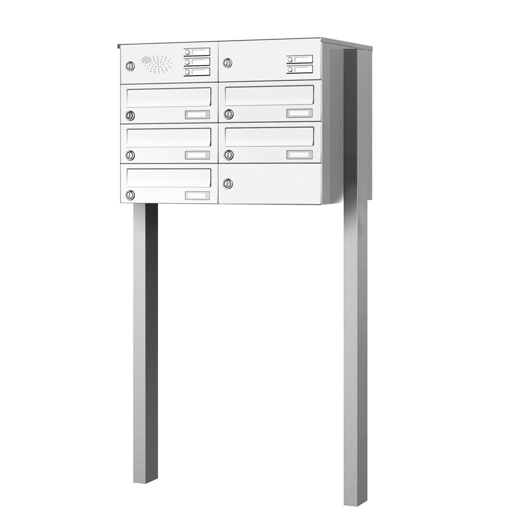 Briefkastenanlage freistehend 5 Fächer mit Funktionskasten Cenator KN-FS-51-244-H