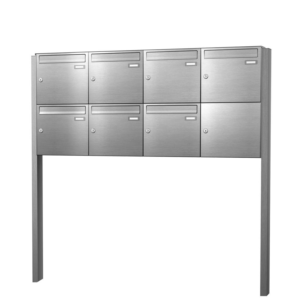 cenator briefkastenanlage freistehend edelstahl 7 f cher cenator kn fs 70 244 e. Black Bedroom Furniture Sets. Home Design Ideas