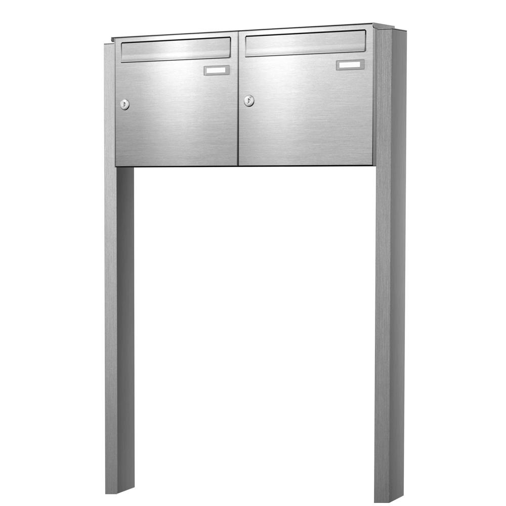 cenator briefkastenanlage freistehend edelstahl 2 f cher cenator kn fs 20 244 e b. Black Bedroom Furniture Sets. Home Design Ideas