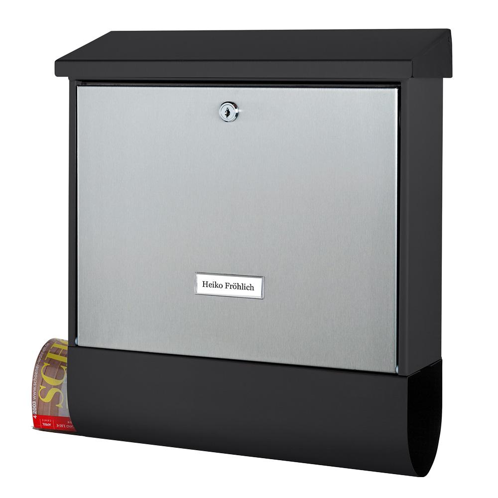 cenator briefkasten mit zeitungsfach cenator bw 582. Black Bedroom Furniture Sets. Home Design Ideas