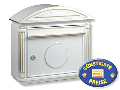 cenator aluguss briefkasten wei cenator bw 138. Black Bedroom Furniture Sets. Home Design Ideas
