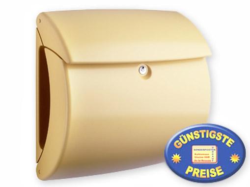Briefkasten Kunststoff sand matt Cenator BW 553