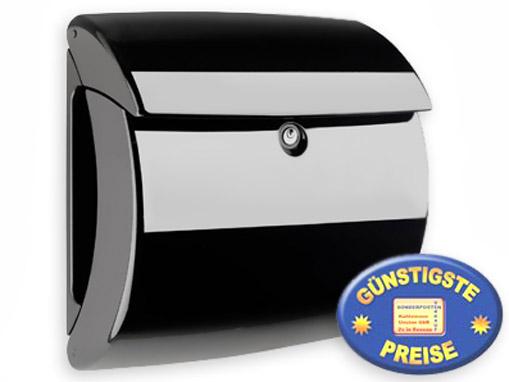 Briefkasten Kunststoff schwarz glänzend Cenator BW 557