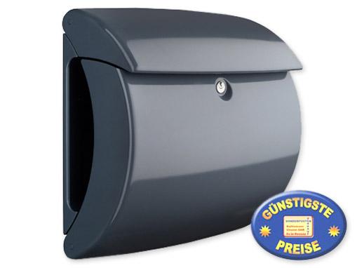 Briefkasten Kunststoff dunkelgrau glänzend Cenator BW 578