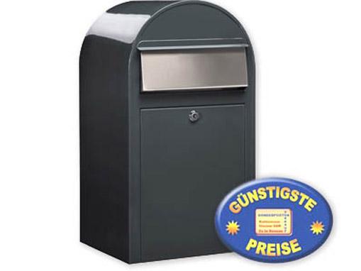 Großraum-Briefkasten grau Cenator BF 409