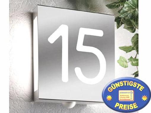 Außenlampe mit Hausnummer Edelstahl Cenator CM 13
