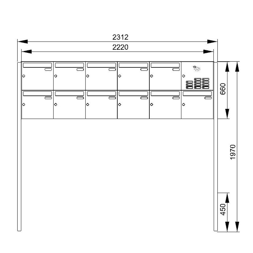 cenator briefkastenanlage freistehend edelstahl 11. Black Bedroom Furniture Sets. Home Design Ideas