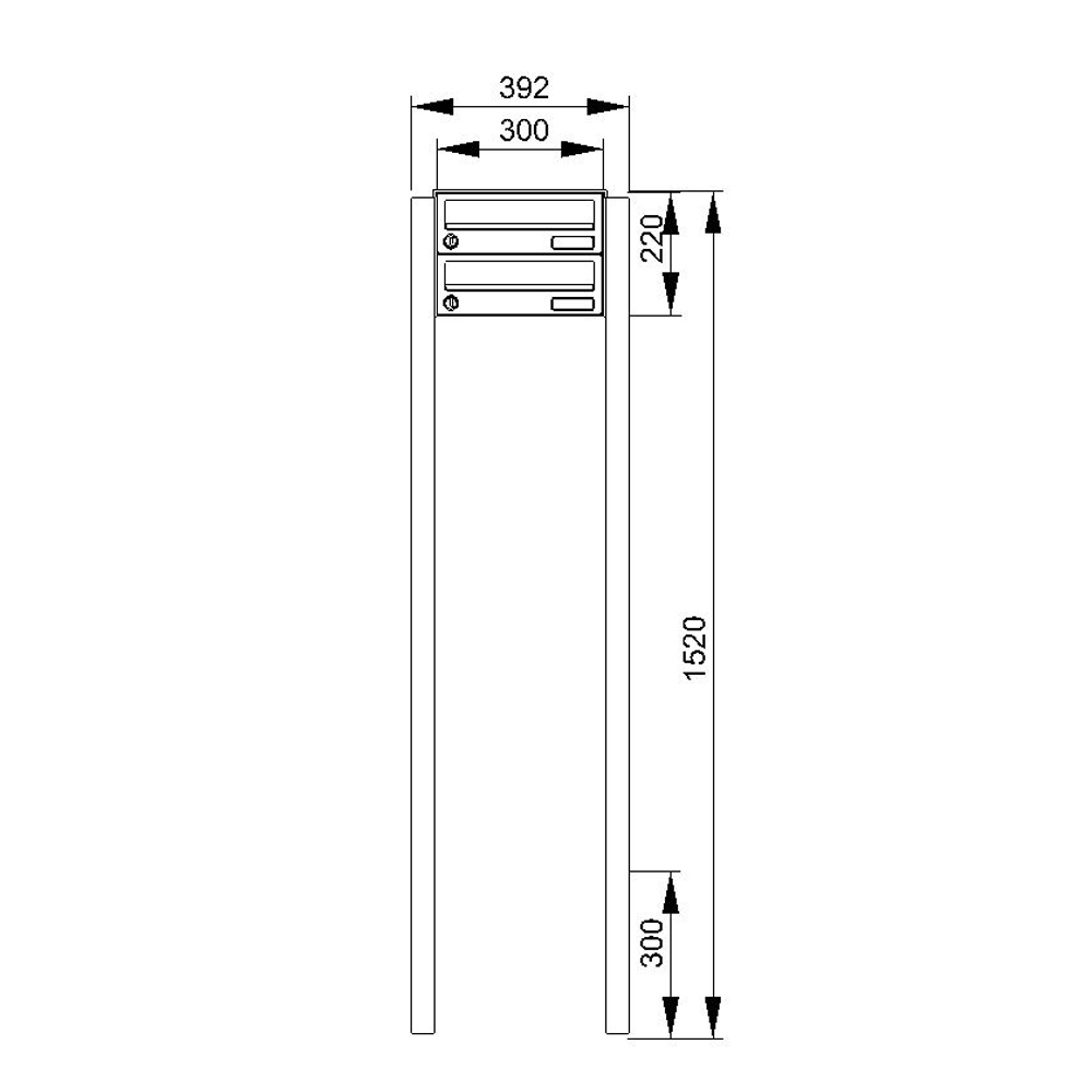 cenator doppelbriefkasten freistehend cenator kn fs 20 244 h. Black Bedroom Furniture Sets. Home Design Ideas