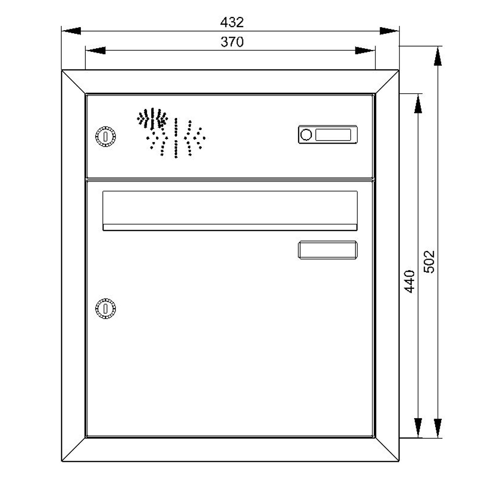 cenator unterputz briefkasten mit funktionskasten edelstahl cenator kn up 11 110 e. Black Bedroom Furniture Sets. Home Design Ideas